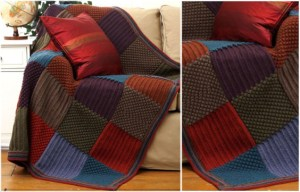 Blanket: Patchwork style crochet with squares (Free Pattern PDF)