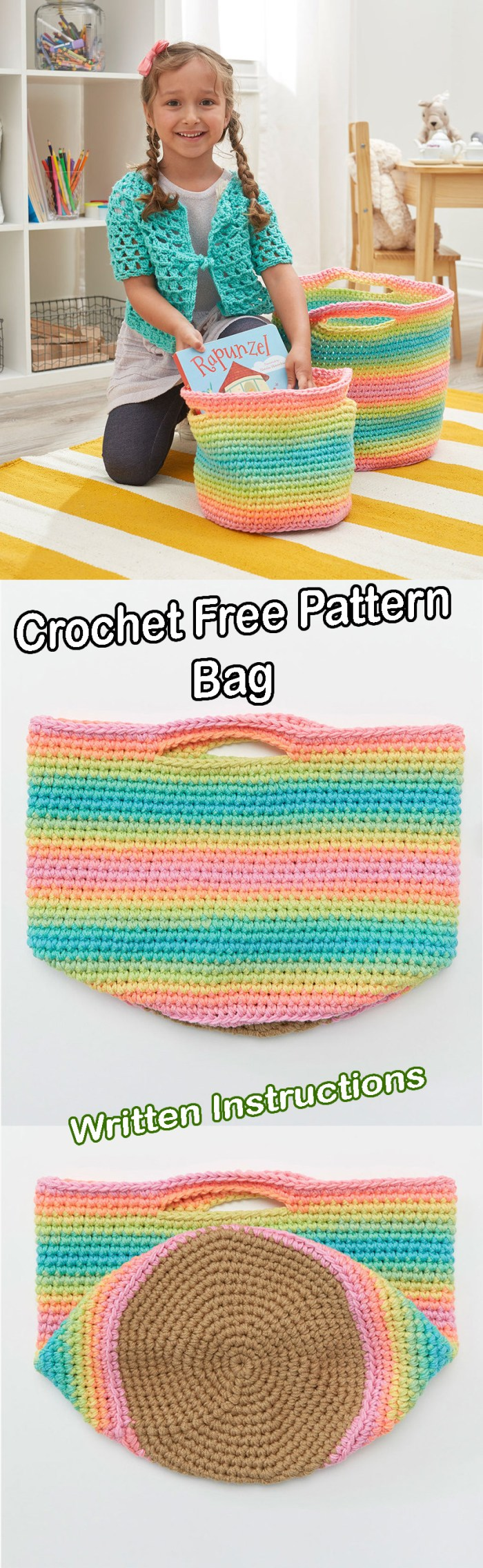 Crochet Bag for Women and Children - Crafts Free Pattern