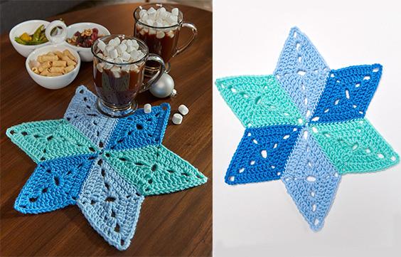 Star Table Mat Coasterscrafts With Free Pattern Written Yarn Of
