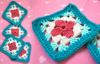Petal Afghan Block Crochet Free Pattern