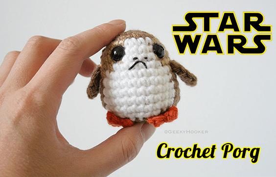Star Wars Crochet Porg Free Pattern and Tutorial Video