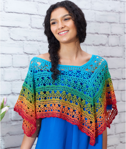 Fire And Ice Poncho Crochet Pattern Free Easy Yarn Of Crochet