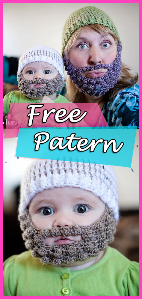 Bobble Bearded Beanie Crochet Free Pattern Diy Hat Yarn Of Crochet