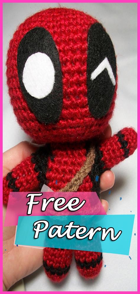 Marvels Deadpool Doll Amigurumi Crochet Free Pattern Yarn Of Crochet
