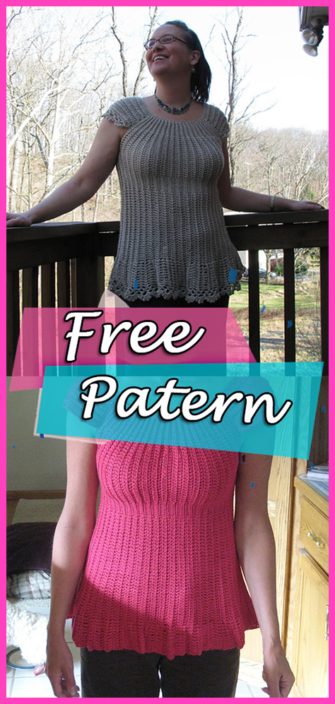 Cap Sleeve Top Sweater Crochet Free Pattern Fashion Pullover