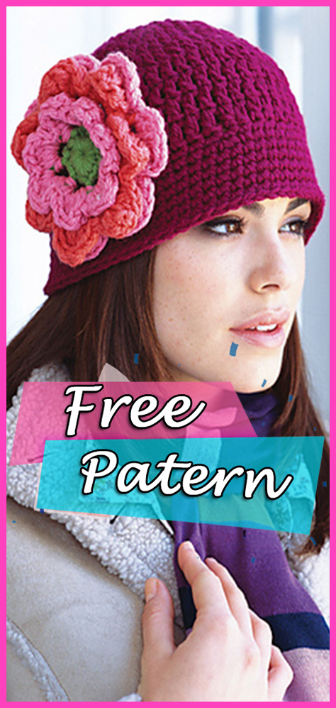 Floral Cloche Hat Crochet Free Pattern Fashion Diy Yarn Of Crochet
