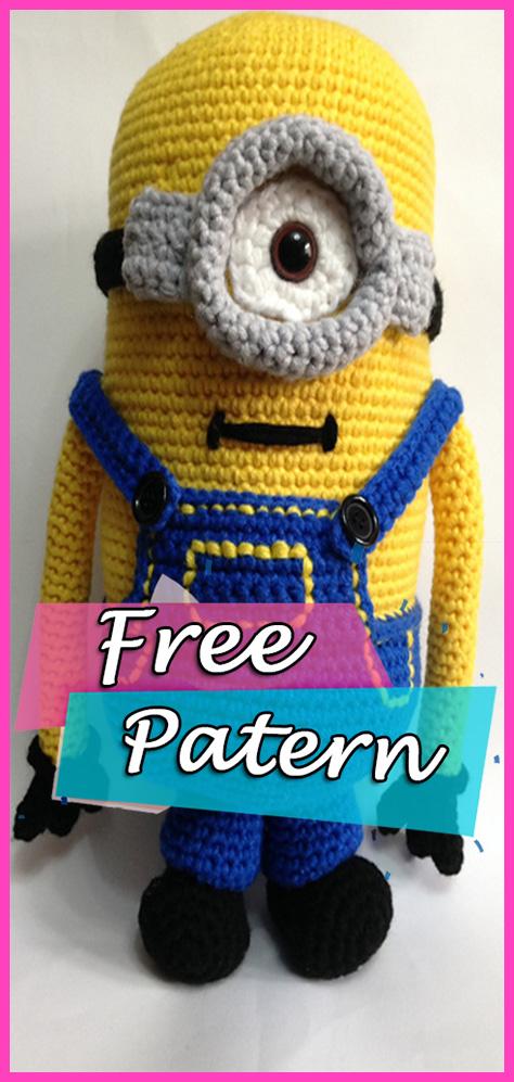 Minion Anigurumi Crochet Free Pattern Toys Crafts Yarn Of Crochet