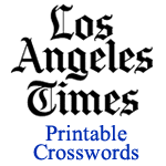 photo regarding Printable Crossword Puzzles La Times identify Printable LA Days Crosswords for June 2014