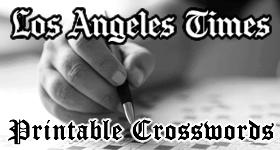 Los Angeles Times Printable Crossword