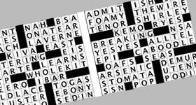 siamese twins crossword puzzles