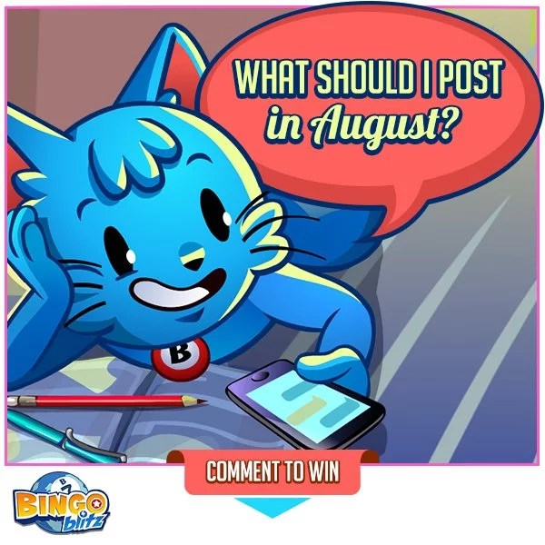 Bingo Blitz! Do you have a great idea for the Bingo Blitz fan page ? Maybe there's a contes