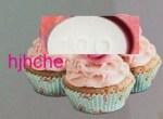 Cardiprin terpotong separuh, jatuh atas cupcake,,