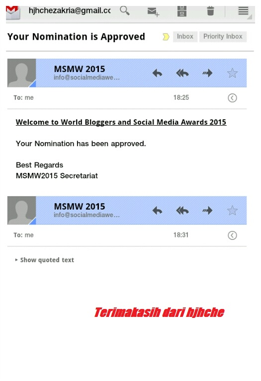 Award nomination 2015