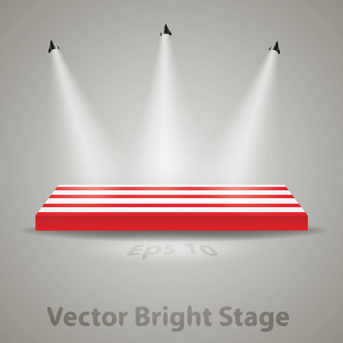 Stage With Spotlight Effect Design Vector Material 01