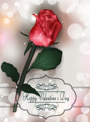 Valentines Day Rose Cards Design Vector 02 Free Download