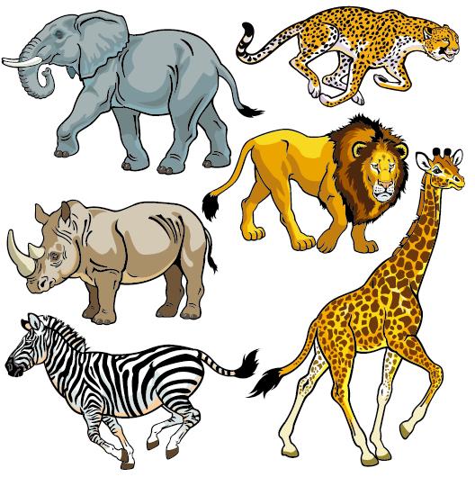 Vector Set Of Wild Animals Design Graphic 05 Free Download