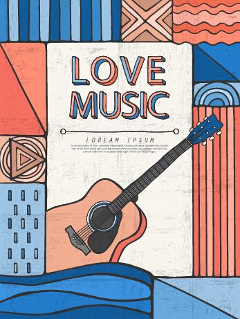 Retro Music Concert Flyer Cover Design Vector 07 Vector