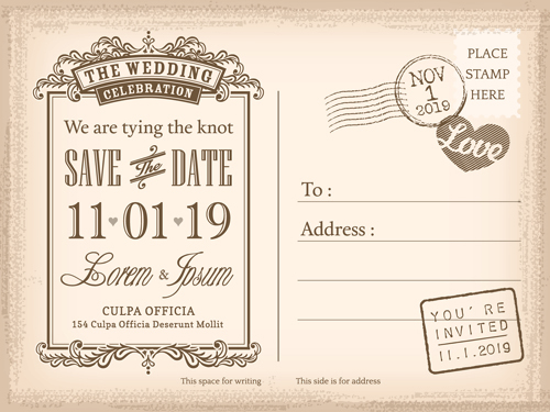 Postcard Design Graphic Vector