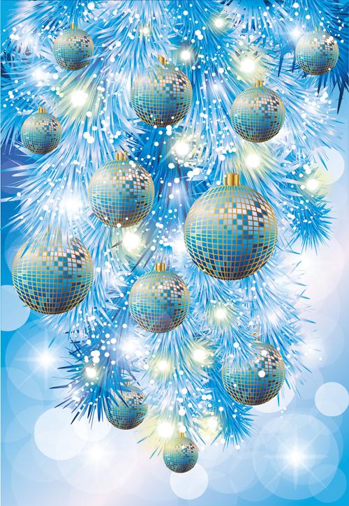 Neon Light Christmas Ball Shiny Vector Vector Christmas