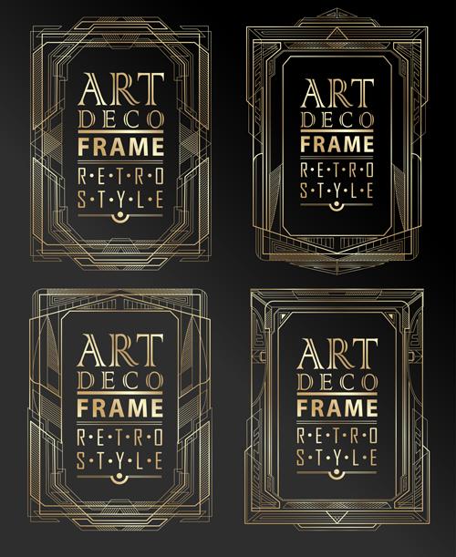 Golden Frame In Art Deco Style