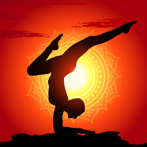 Image result for Sunset person silhouette sun salutation