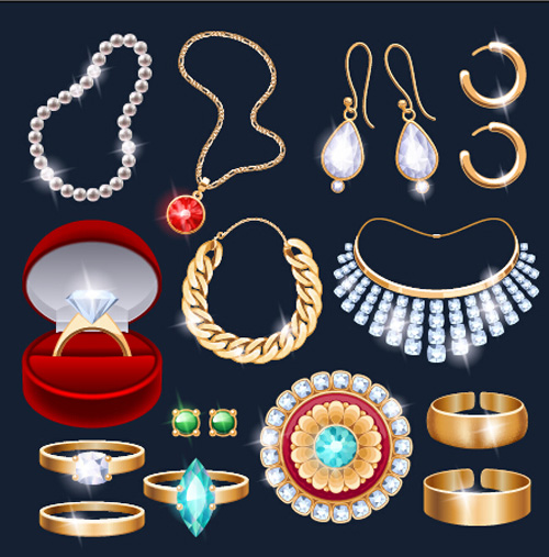 Different Jewelry Design Vector Vector Life Free Download
