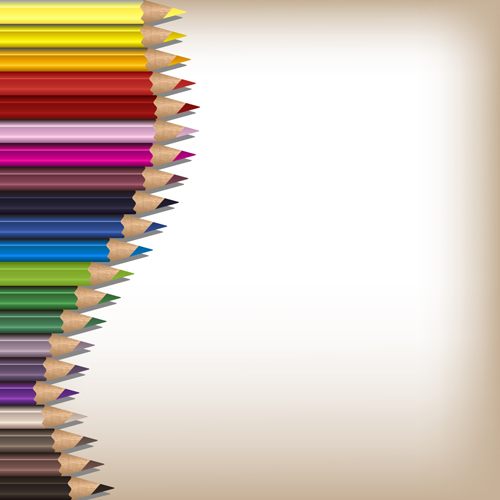 Colorful Pencils Backgrounds Vector Set 12 Vector