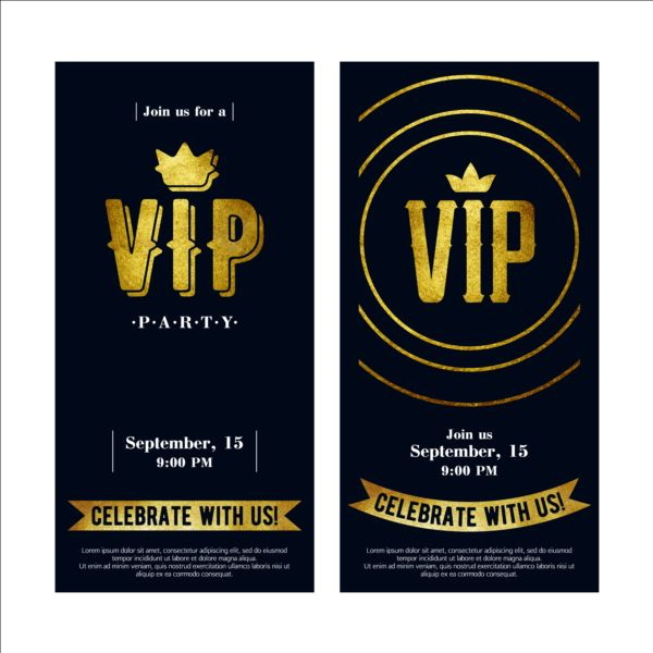 Luxury VIP Invitation Cards Template Vector 05 Free Download