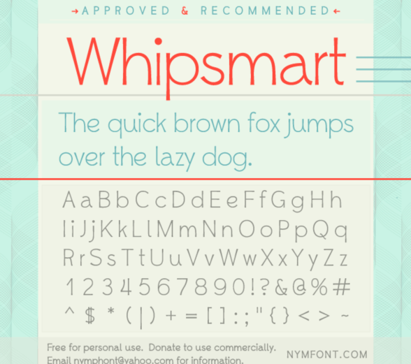 Download Whipsmart Font fonts pack free download