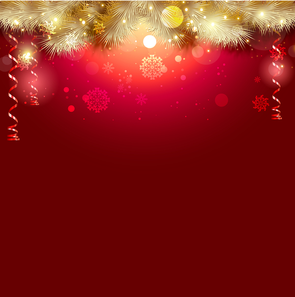 Shiny Christmas Red Background Design Vector 01 Free Download