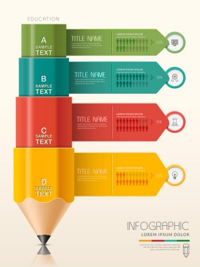 Vector education infographic template material 08 free download Vector education infographic template material 08