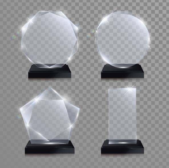 Glass Awards Template Vectors 01 Vector Other Free Download