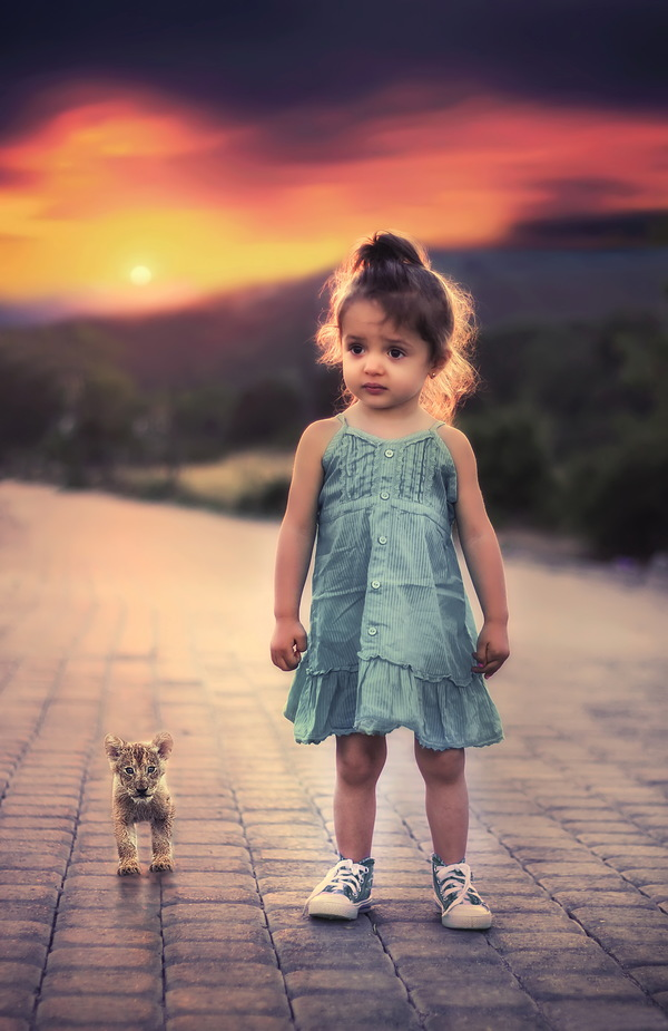 Cute beautiful little girl HD picture - Kids stock photo ...