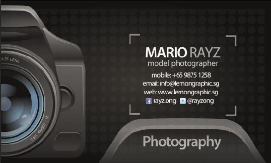 Photographer Business Card Psd Template Free Download
