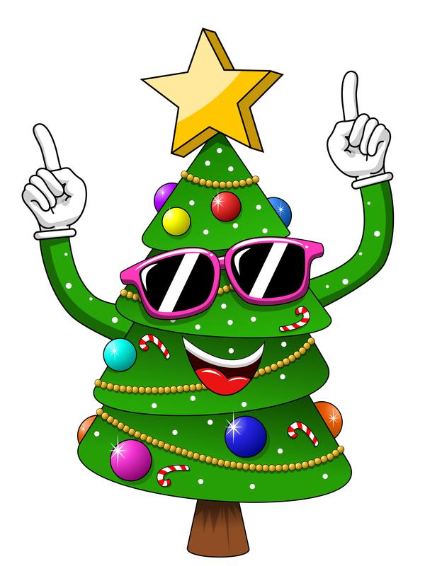 Christmas Decoration Cartoon Christmas Lights Card And