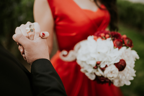 Happy Marriage Couple Holding Hands Stock Photo Free Download