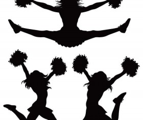 Download I Love cheer with jumping cheerleader vector free download