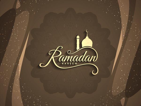 Ramadan Kareem Greeting Card Vectors Set 05 Vector Card