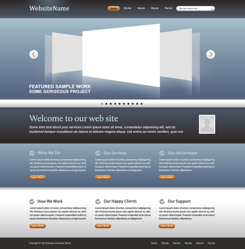 Our web items have multiple useful features you can benefit from. Simple Business Website Template Vector Free Download