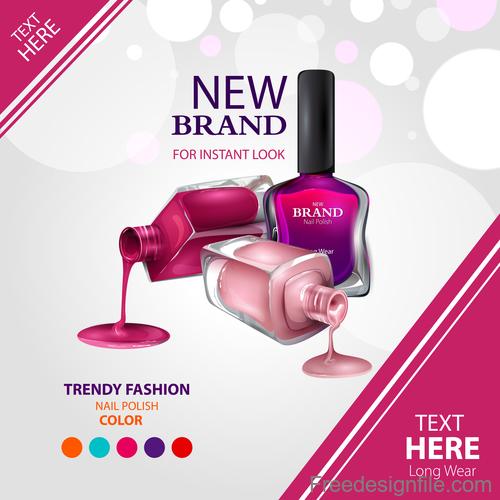 color nail polish advertisement poster