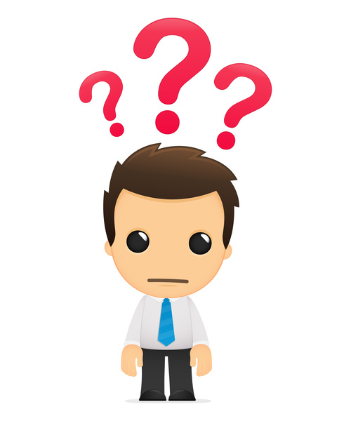 Question cartoon character vector free download