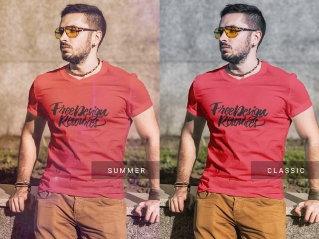 free-t-shirt-fashion-mockup
