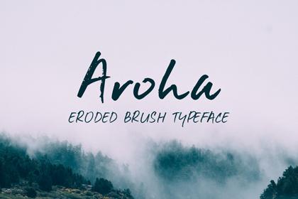 aroha-brush-free-font