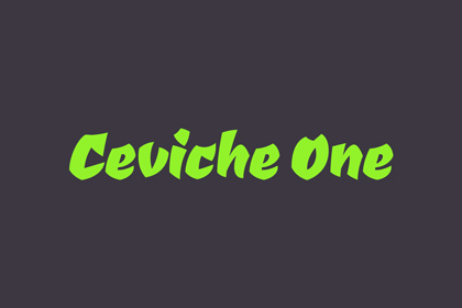 ceviche-one-free-font