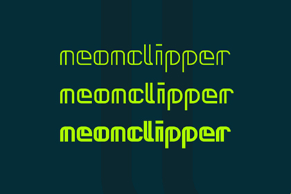 Neonclipper - Free Font