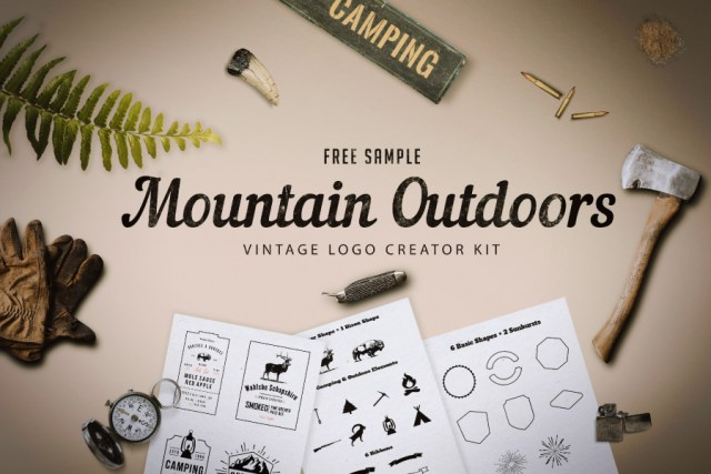 01 Mountain Outdoor Vintage Logo Kit