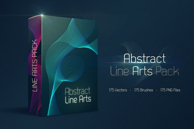 Free Abstract Line Arts