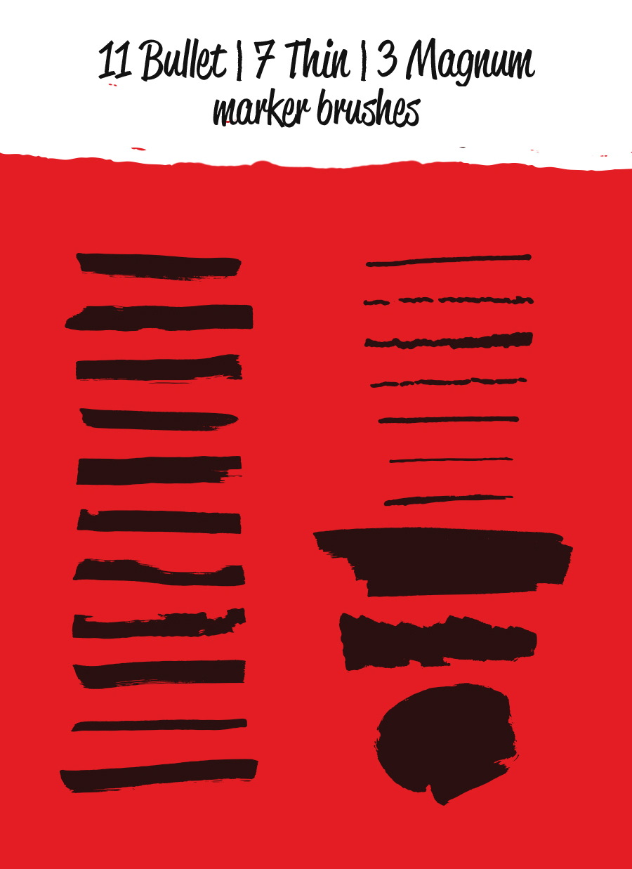 Free Sharpie Marker Vector Brushes – Free Design Resources