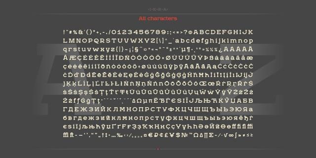 Ikra Free Typeface