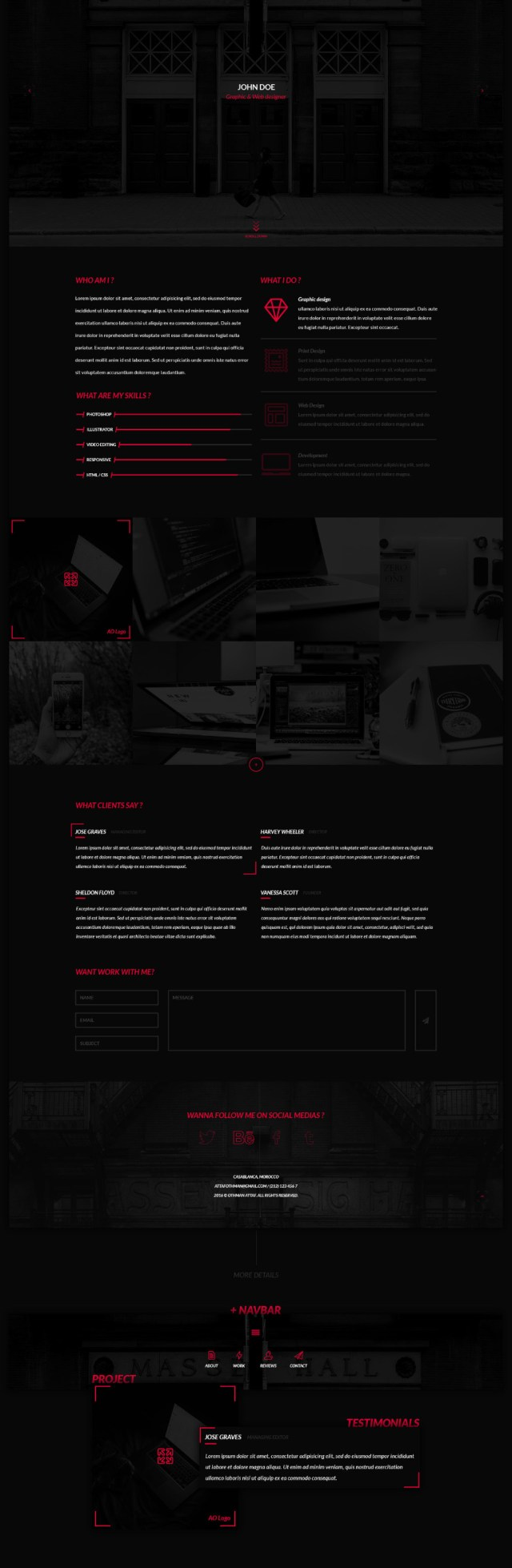 The Dark Side a Free Portfolio PSD
